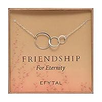 3つFriendネックレス、スターリングシルバー友情酷使infinity円ギフトfor 2–3Best Friends