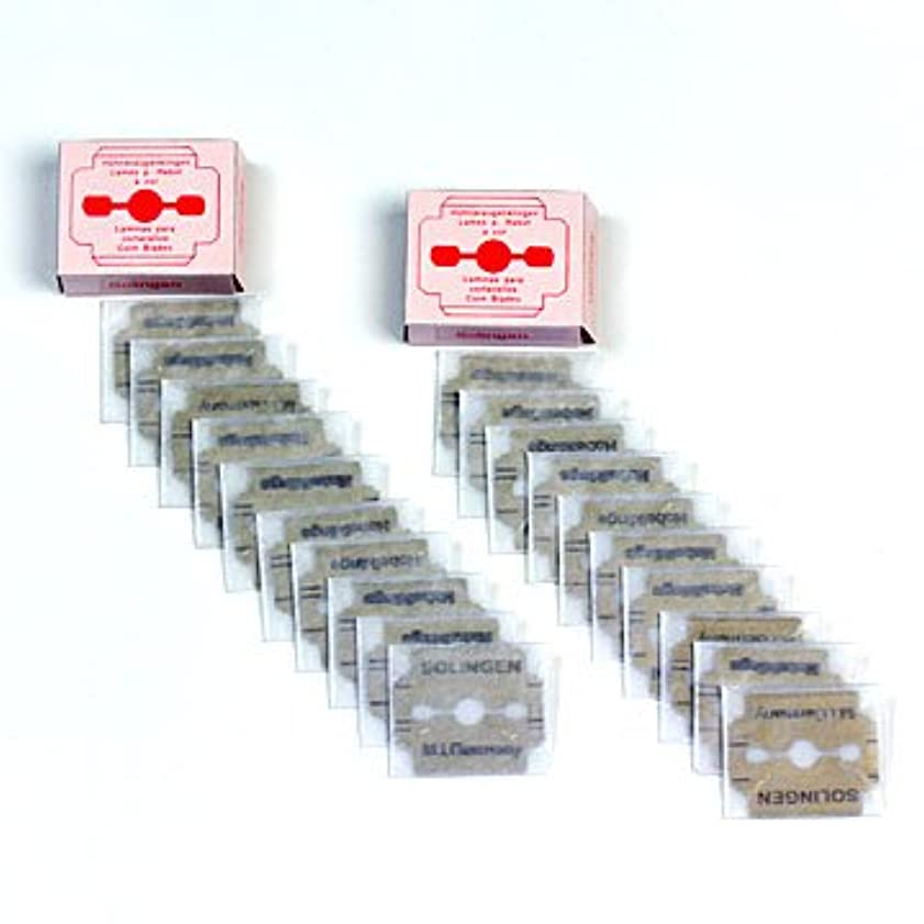トレーニングあそこオセアニアドイツ?ゾーリンゲン(Solingen) かかと削り器用替刃10枚入りx2セット(合計20枚) #slg008002-spc