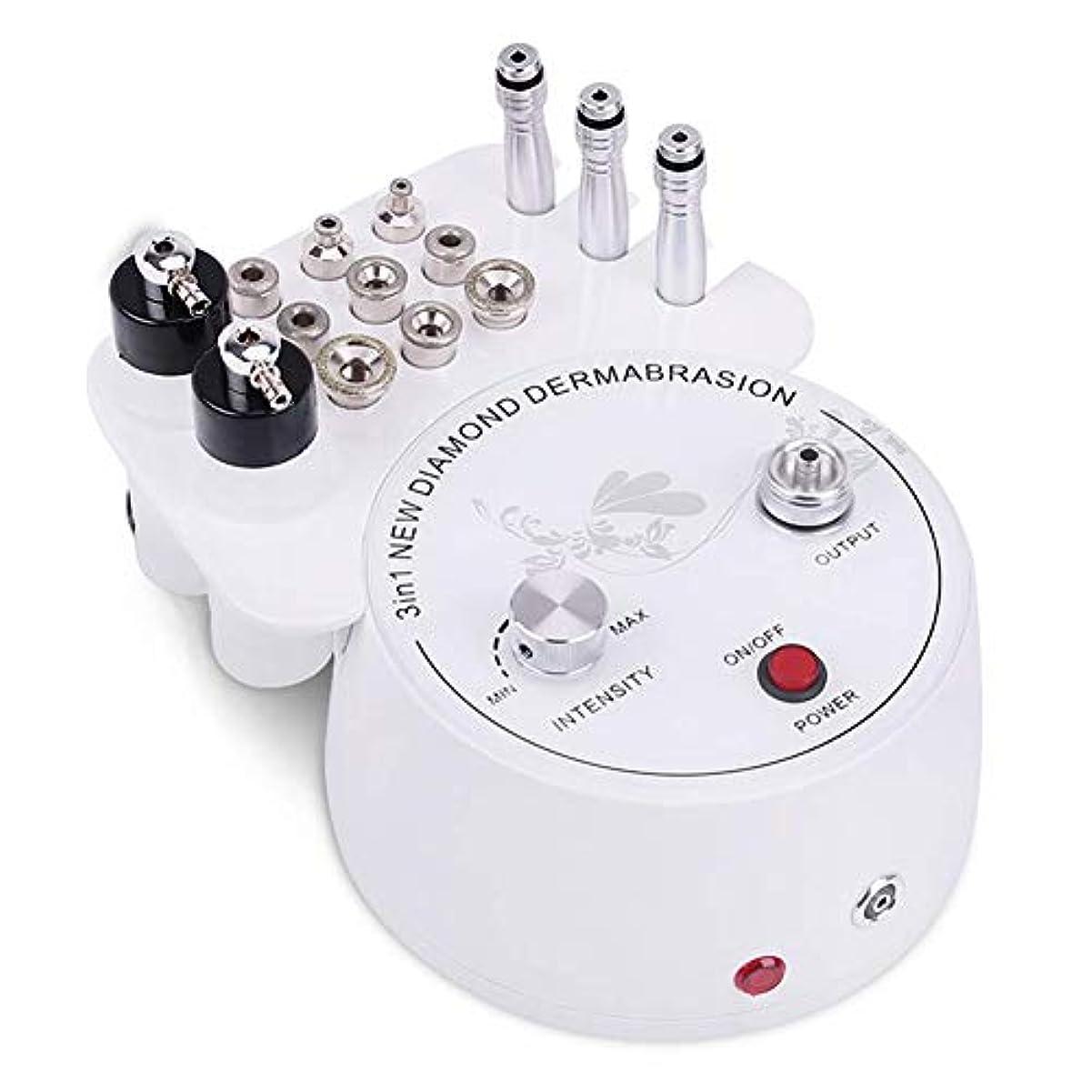 死韓国かすれた3 in 1 ダイヤモンドマイクロダーマブレーションダーマブレーションマシン、 プロ 皮膚剥離 ダイアモンドビューティーマシン、スキンピーリングリジュビネーションリフティングタイトニング