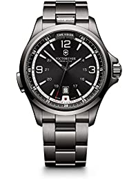 (ビクトリノックス) VICTORINOX Swiss Army スイスアーミー Men 241665 Night Vision Dark Grey Dial Black Ice PVD Steel Watch 男性腕時計 [並行輸入品] LUXTRIT