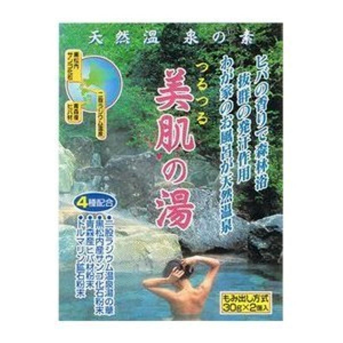 作り上げる鳩制裁天然温泉の素 美肌の湯 (30g×2個入)×12袋セット