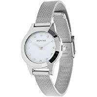 BERING Time 11125-000 Women Classic Collection Watch with Stainless-Steel Strap and scratch resistent sapphire crystal. Designed in Denmark