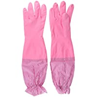 IPOTCH Household Rubber Latex Gloves Reusable Washing Kitchen Cleaning Gloves