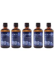 Mystic Moments | Essential Oil Starter Pack - Organic Citrus Oils - 5 x 50ml - 100% Pure