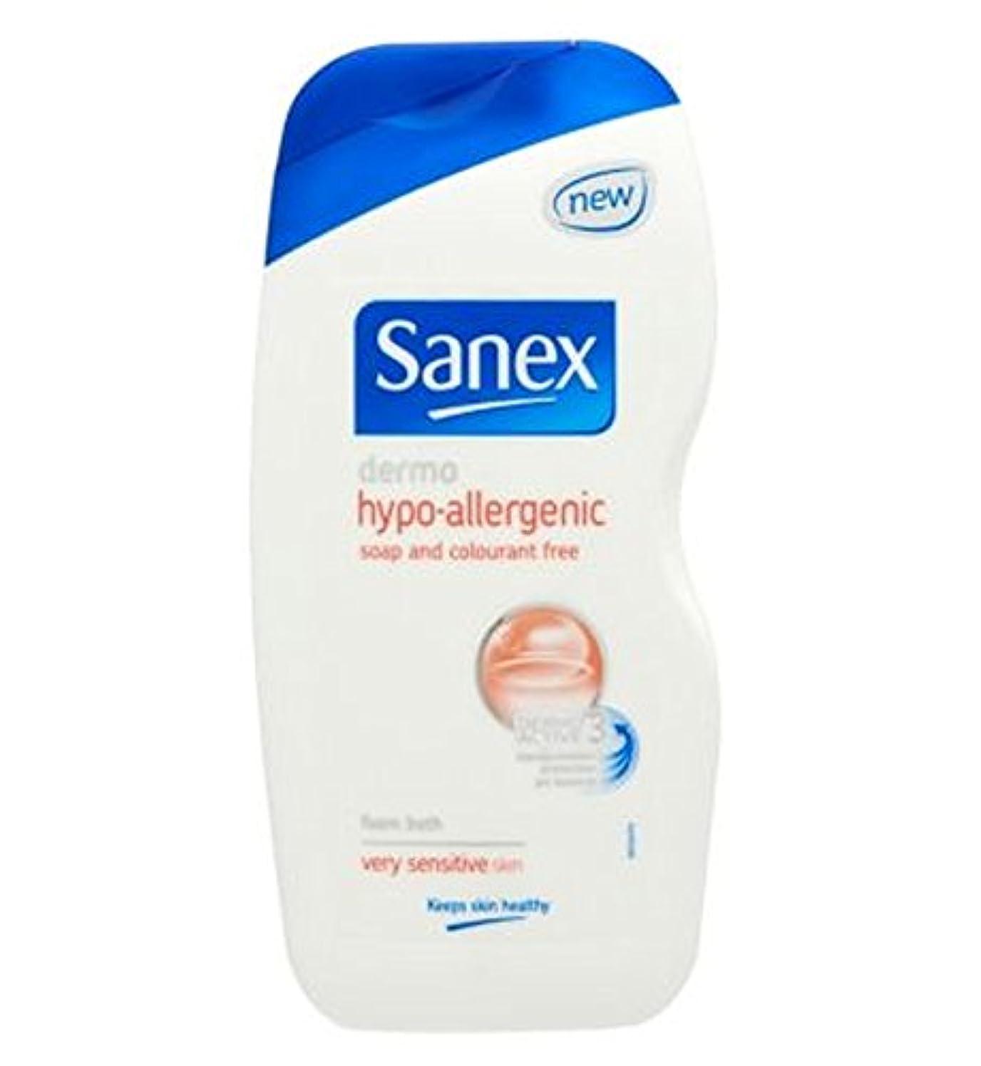 くしゃみ十観点Sanex Dermo Hypo Allergenic Very Sensitive Skin Foam Bath 500ml - Sanex真皮ハイポアレルギーの非常に敏感肌の泡風呂500ミリリットル (Sanex)...