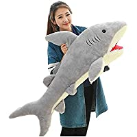 URAKUTOYS鮫 サメ ぬいぐるみ クリスマス プレゼント 可愛い ぬいぐるみ 抱き枕 誕生日プレゼント (50cm)