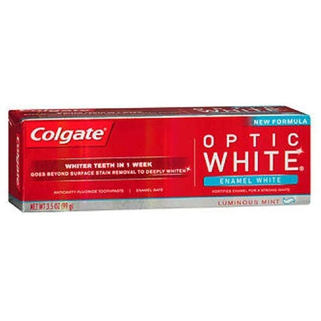 裁判所ネブあいまいなColgate オプティックホワイト虫歯予防フッ素の歯磨き粉、エナメルホワイト、ルミナスミント3.5オンス(3パック) 3パック