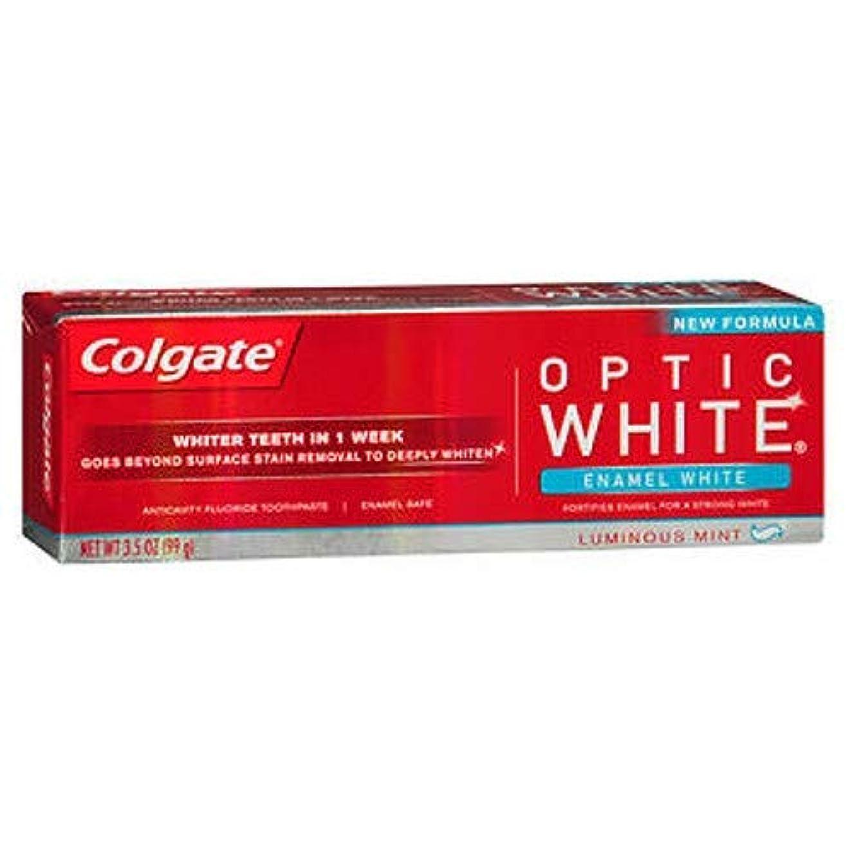 クスクス愛情メンタリティColgate オプティックホワイト虫歯予防フッ素の歯磨き粉、エナメルホワイト、ルミナスミント3.5オンス(3パック) 3パック