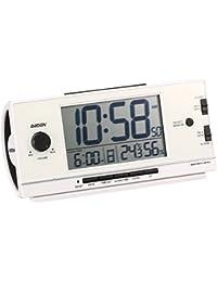 セイコー クロック 目覚まし時計 電波 デジタル 大音量 PYXIS ピクシス RAIDEN ライデン 白 パール NR534W SEIKO