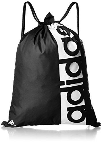 [アディダス] ジムサック リニアロゴ ジムバッグ BVB29 S99986ブラック/ブラック/ホワイト