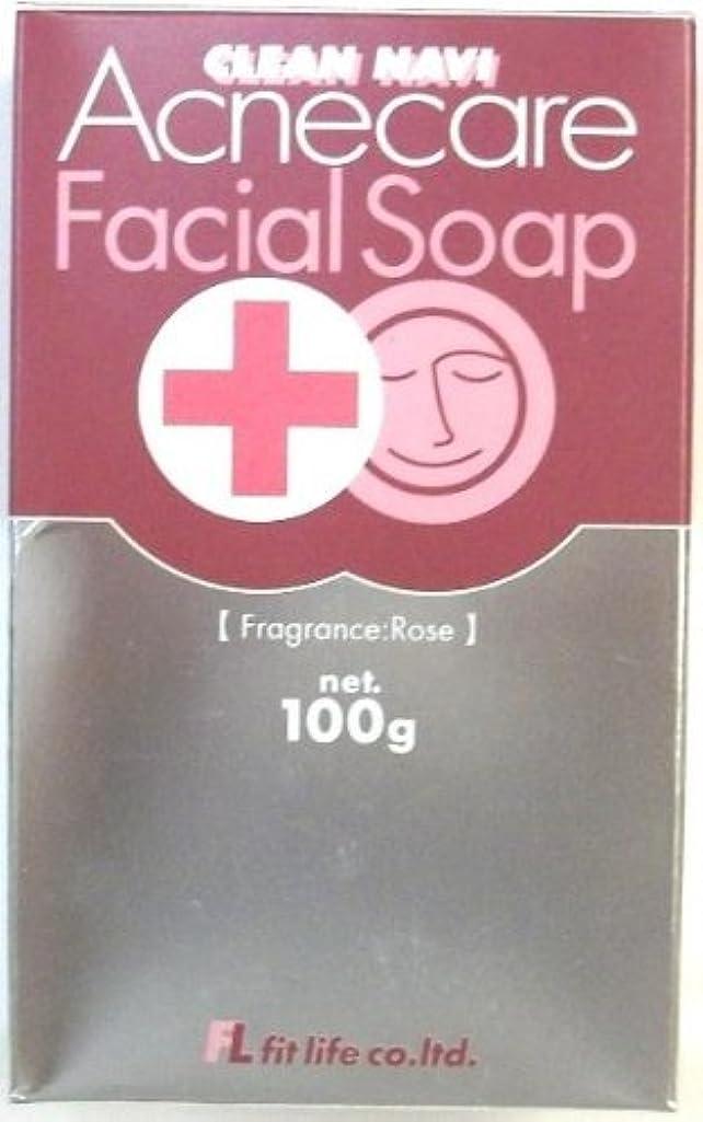 ジャニス割合ゆりかごクリーンナビ アクネケア洗顔石鹸 100g