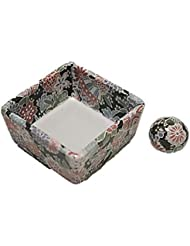 ■製造直売 陶器 角鉢 和モダン 京雅黒 お香立て ACSWEBSHOPオリジナル