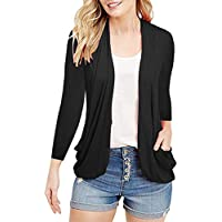 Inorin Womens Cardigans Short Sleeve Summer Lightweight Sheer Open Front Drape Sweater Tops