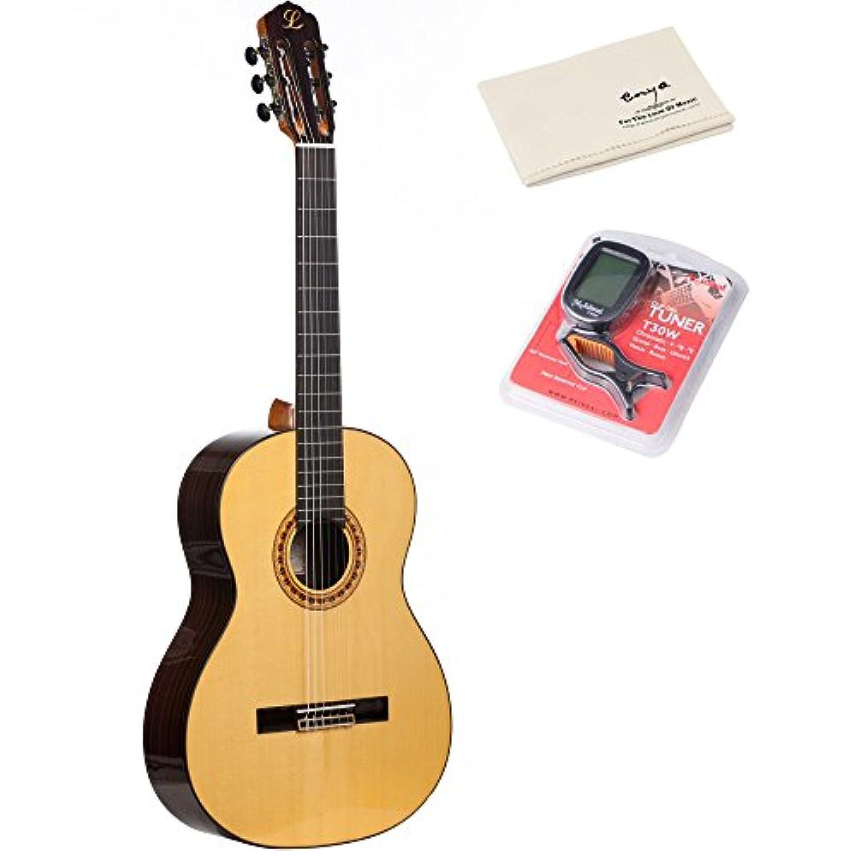 (ラビダ)LAVIDA L60 アコースティックギター フラメンコギター ナイロンストリング 39″(ソフトケース?チューナー?ポリシングクロース付き)