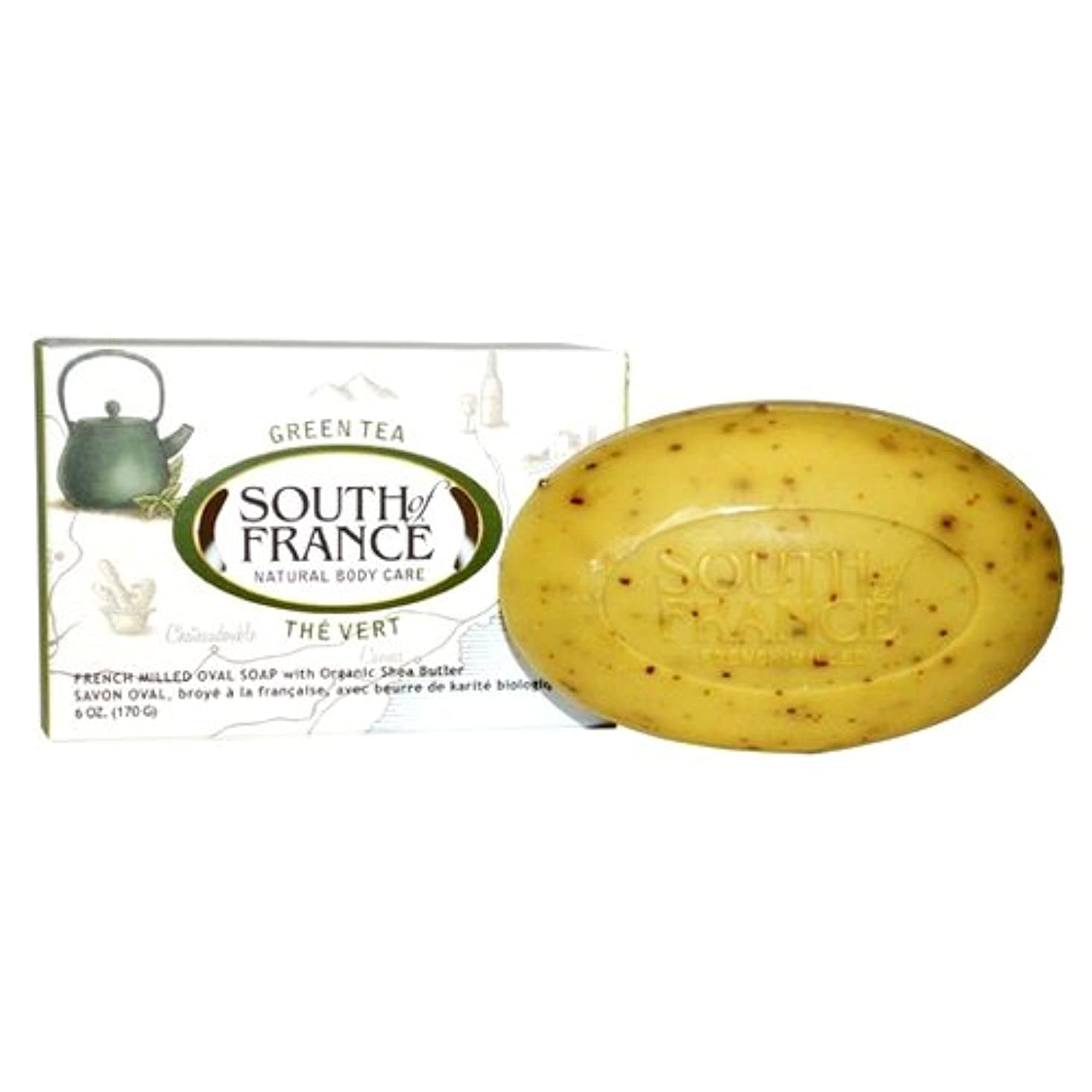 くしゃみ寄稿者債権者海外直送品South Of France Soaps Bar Soap Oval, Green Tea 6 Oz
