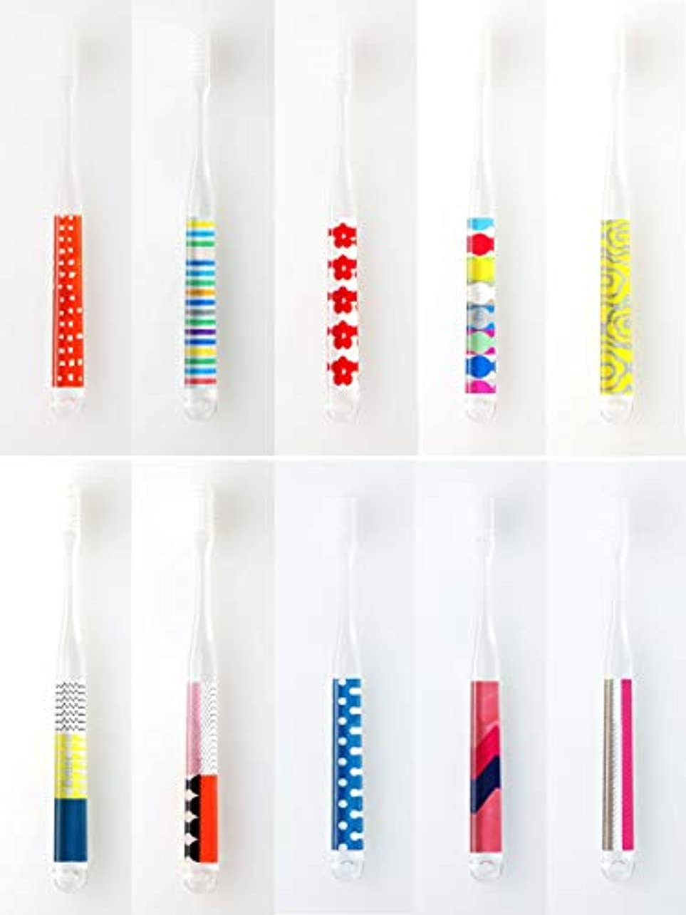 飲み込む処方生産性MOYO モヨウ 歯ブラシ POP 10本セット_562302-pop3 【F】,POP10本セット ハブラシ