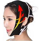 TLMY 薄い顔のマスクのマスクの睡眠の顔のプラスチック顔の包帯の顔の持ち上がるVの表面のアーチファクトの回復 ネックバンド 顔用整形マスク (Size : L)