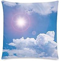 可愛い 子供 青空と太陽光 座布団 45cm×45cm