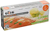 Oliso 8 Jumbo (2 gallon) Vac-Snap Bags - reusable zipper-top reclosable BPA free vacuum bag by Oliso 8 Jumbo 2 gallon bags