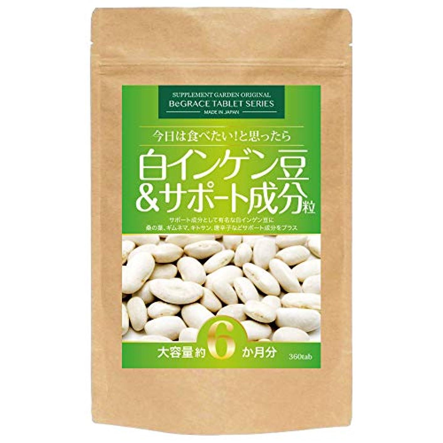 感染する社交的別れる白インゲン豆&サポート成分粒 大容量約6ヶ月分/360粒(白インゲン豆?桑の葉?ギムネマ?キトサン?唐辛子)