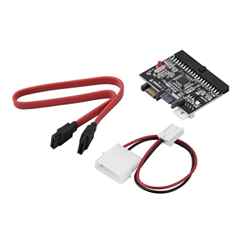 魔女評価可能めるAsdomo IDE to SATAまたはSATAにIDEアダプタ、軽量耐久性IDE HDD to SATAシリアルATA変換アダプタハードディスクドライバサポート(ブラック)