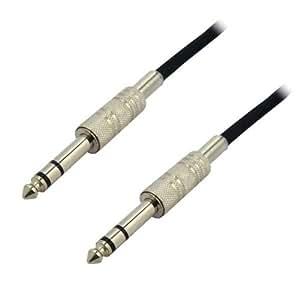 ステレオ標準ケーブル 1.5m φ6.3mm-φ6.3mm フォーンケーブル