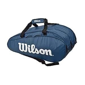 Wilson(ウイルソン) テニス バドミントン ラケットバッグ SUPER TOUR 3 COMP(スーパーツアー3コンプ) ラケット15本収納可能 WR8002302001 ネイビー/ホワイト