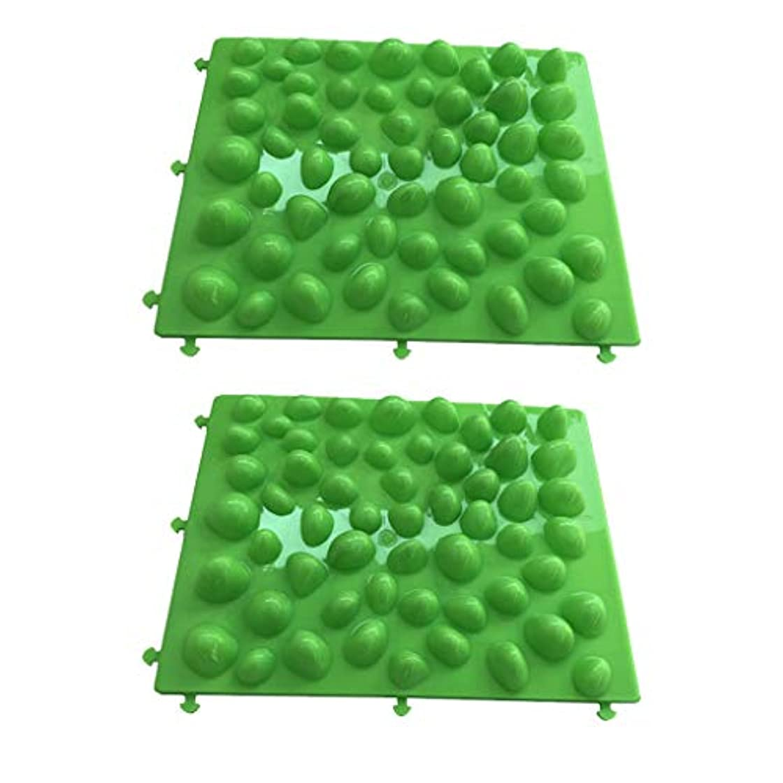 無しからに変化する頼る足つぼ フットマット フットマッサージ 足のマッサージパッド 人工石 プラスチック 血行促進 2個入