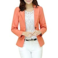 Aro Lora Women's Long Sleeve Slim Fitted Casual Work Plain Suit Jacket Blazer