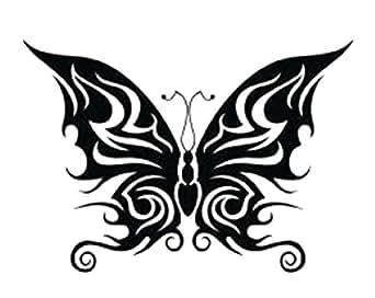 アゲハ蝶のタトゥーシール トライバルバタフライ #7