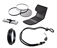 Olympus Stylus TOUGH TG-3 High Grade Multi-Coated Multi-Threaded 3 Piece Lens Filter Kit (40.5mm) + Lens/Filter Ring + Krusell Multidapt Neck Strap + Nw Direct Microfiber Cleaning Cloth [並行輸入品]