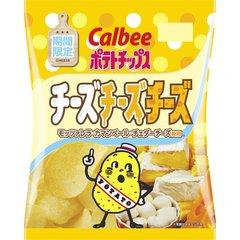 カルビー ポテトチップス チーズチーズチーズ 75g×12袋