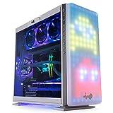 InWin 3シリーズ 307 調整可能 RGB フロントパネル ミッドタワー ゲームケース 強化ガラス (CF06B) ホワイト