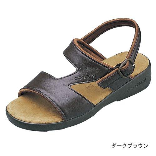 (クロワッサン)CROISSANTBasicサンダル日本製・本革4592 (L (24~24.5cm), ダークブラウン)