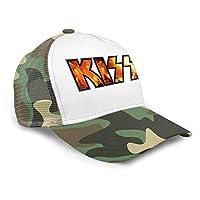 キッス KISS ロックバンド キャップ 網眼 野球帽 アウトドアキャップ レジャー 紫外線対策 戸外 人気 男女兼用