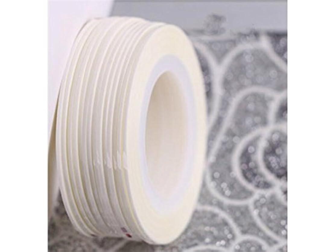 モルヒネ動機付けるネックレットOsize ネイルアートキラキラゴールドシルバーストリップラインリボンストライプ装飾ツールネイルステッカーストライピングテープラインネイルアート装飾(白)