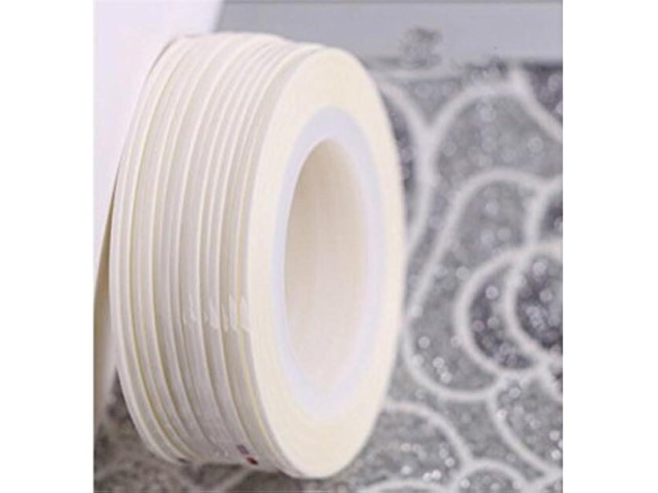 エンドテーブル記述する信じるOsize ネイルアートキラキラゴールドシルバーストリップラインリボンストライプ装飾ツールネイルステッカーストライピングテープラインネイルアート装飾(白)