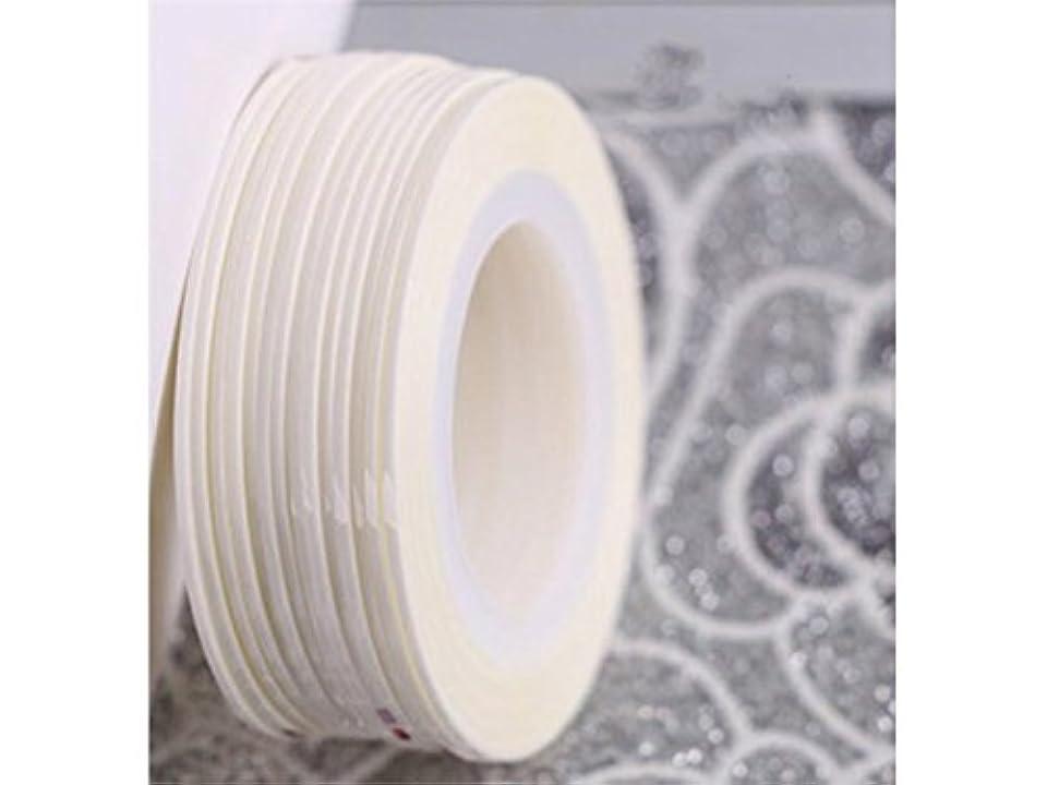 奇妙な憂鬱な肝Osize ネイルアートキラキラゴールドシルバーストリップラインリボンストライプ装飾ツールネイルステッカーストライピングテープラインネイルアート装飾(白)