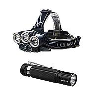 発信スタイルの楽しみスーパーブライト5倍XM - L T 6 LEDヘッドランプヘッドライト懐中電灯トーチランプ