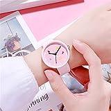 人々の流入シンプルな時計ファッショントレンド文芸レトロ原宿スタイルニュートラルユニセックス時計ピンク