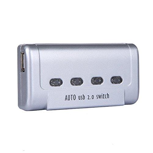 『ES-Tune USB切替器 半自動 ホットキー「Ctrl+F11」 4入力1出力 プリンタなどを共有 分配器 セレクター USB2.0端子 すべてのUSB端子に対応 HUB対応』の1枚目の画像