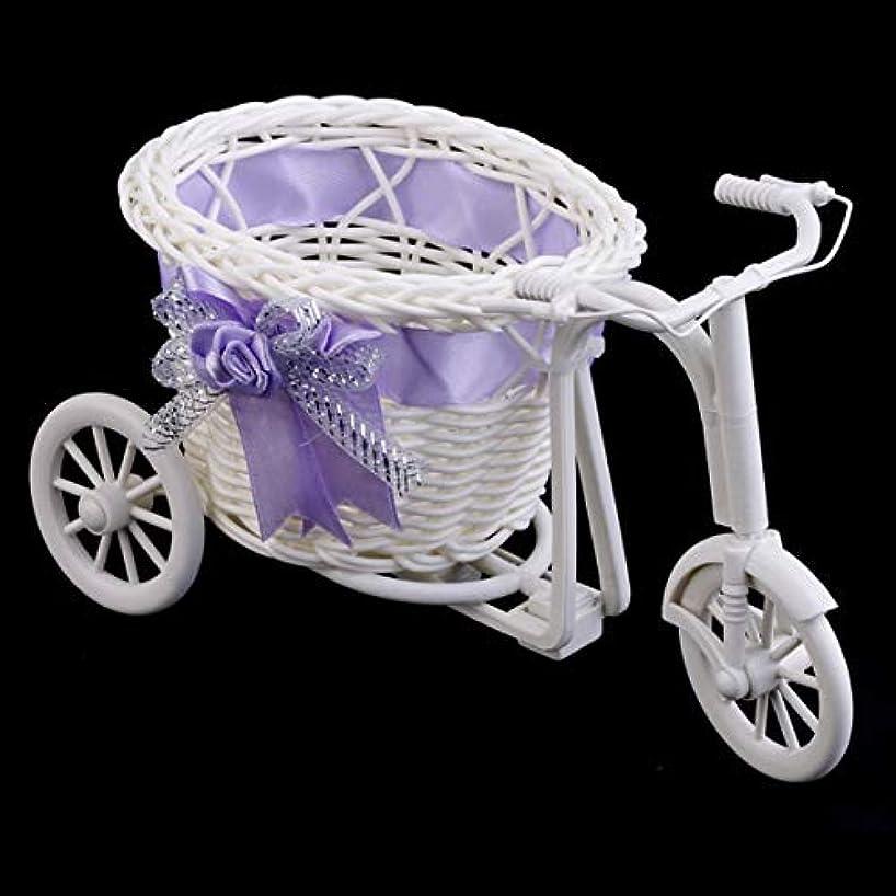 サンダル苦い便利Tivollyff 籐三輪車自転車フラワーバスケットガーデンウェディングパーティーの装飾ミニユーティリティカートの贈り物としてプラスチックオフィスの寝室