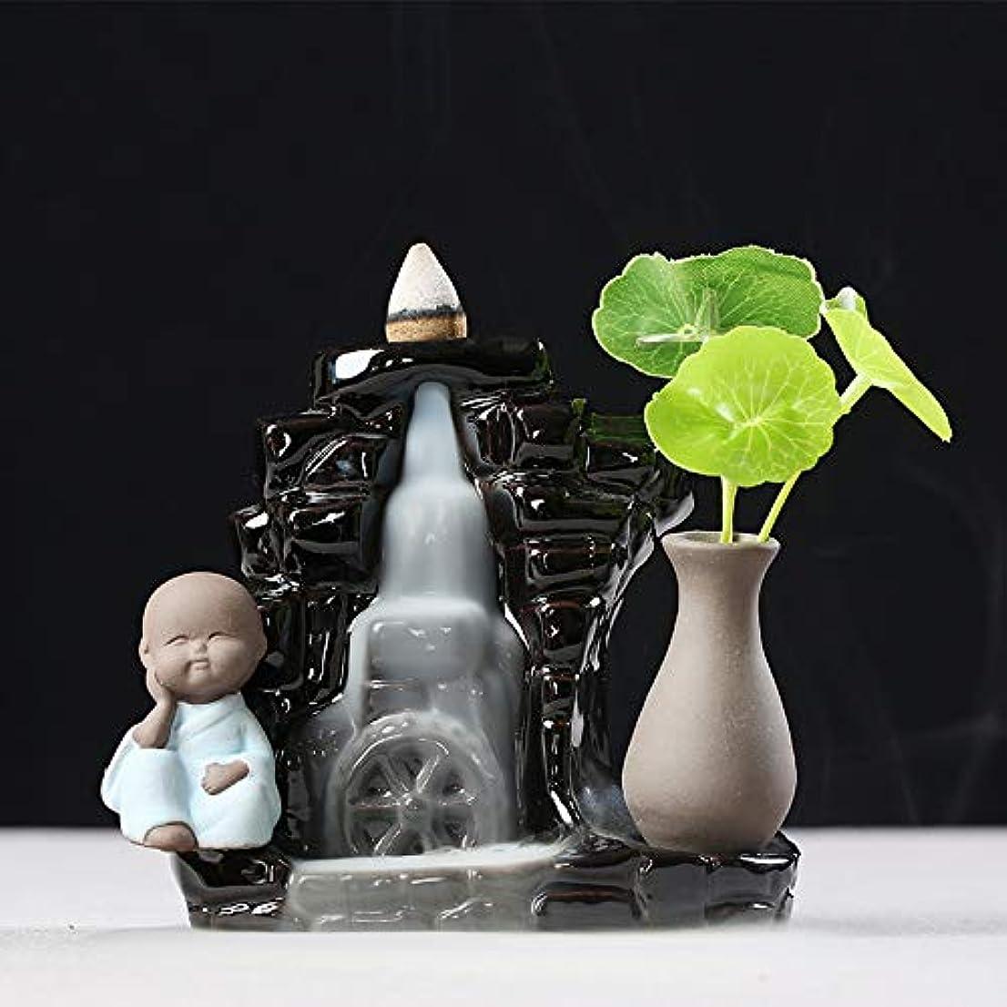 富豪談話パフオフィスの家の装飾10.5 * 12cmのためのバーナーの陶磁器の手流のアロマセラピーバーナー