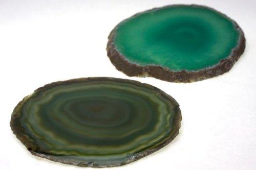 【石流通センター】【置き石】メノウコースター M グリーン 天然石 パワーストーン
