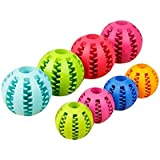 Dog Chew Interactive Feeder Ball Toy Food Puzzle Treat Training Behavioural Ball for Teeth Cleaning(Assorted Color)