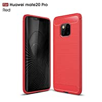 Huawei Mate 20 Pro シェル, プロテクター Huawei Mate 20 Pro カバー, Moonmini プロテクター インパック 耐性 耐久性のある 電話 カバー の Huawei Mate 20 Pro (Red)