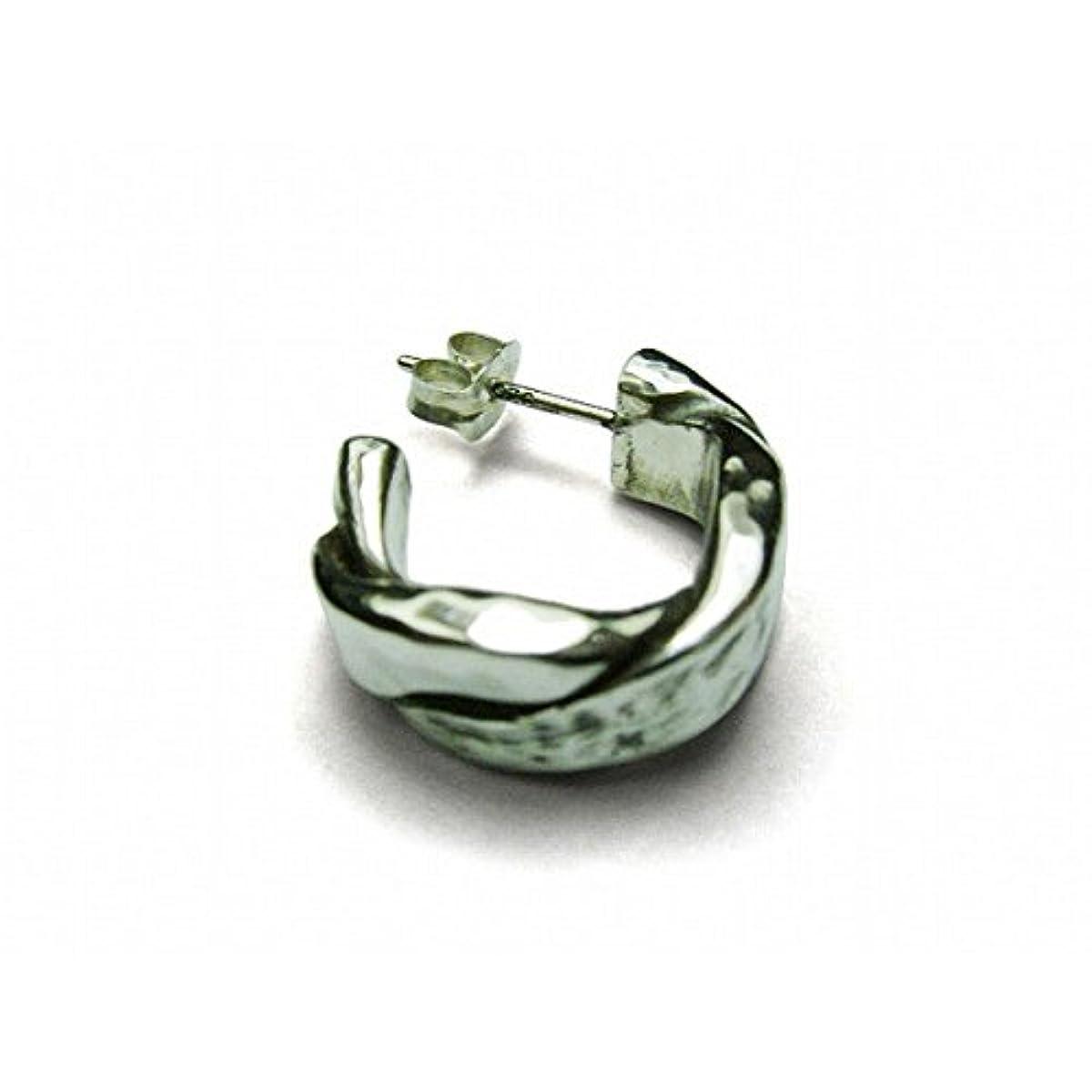 ステレオ軸繁雑VIVIFY ビビファイ フープピアス シルバー リングTwist & Press Pierce(Silver x Silver) 受注生産