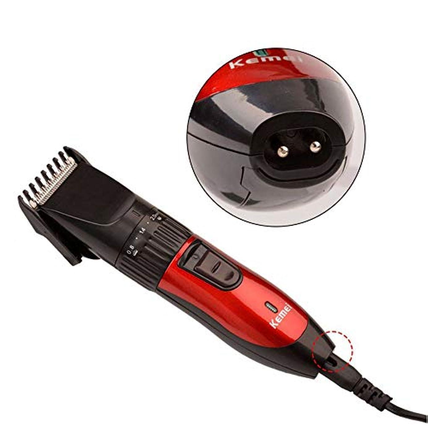 忌避剤レンズ切るバリカン、男性用のプロのヘアカットマシン散髪はさみ調節可能なヘアクリッパートリマーキット理髪理髪