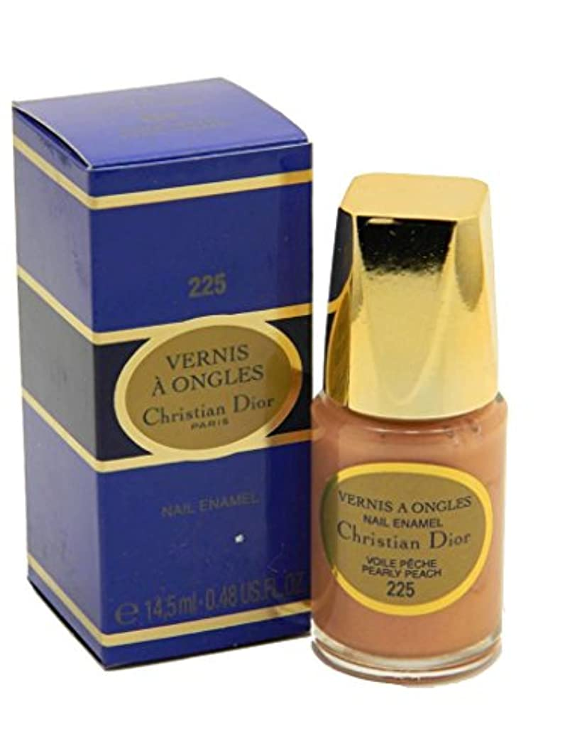 クレーターおしゃれじゃない排泄物Dior Vernis A Ongles Nail Enamel Polish 225 Pearly Peach(ディオール ヴェルニ ア オングル ネイルエナメル ポリッシュ 225 パーリィピーチ) [並行輸入品]