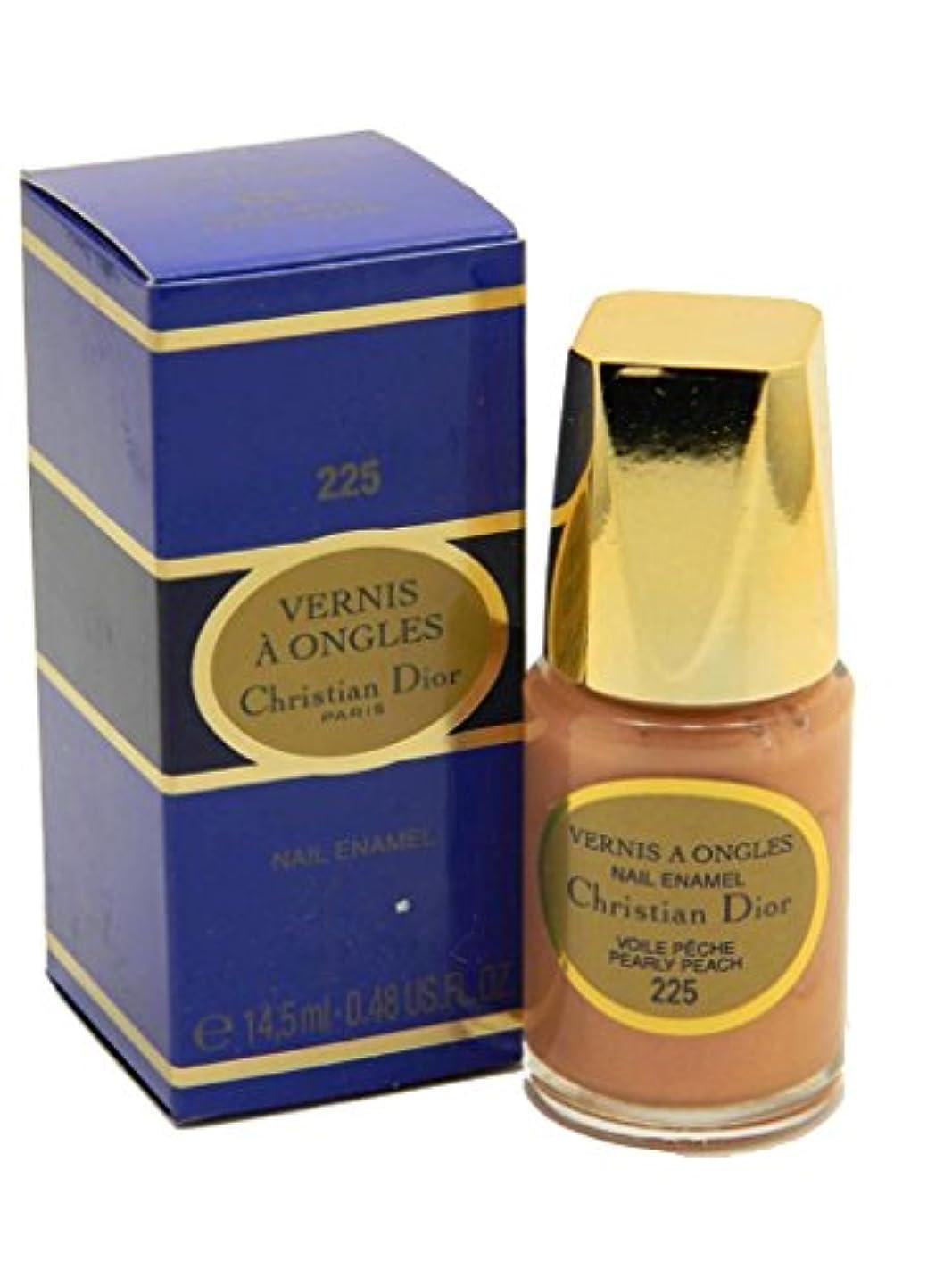 思慮深いかりて革命的Dior Vernis A Ongles Nail Enamel Polish 225 Pearly Peach(ディオール ヴェルニ ア オングル ネイルエナメル ポリッシュ 225 パーリィピーチ) [並行輸入品]